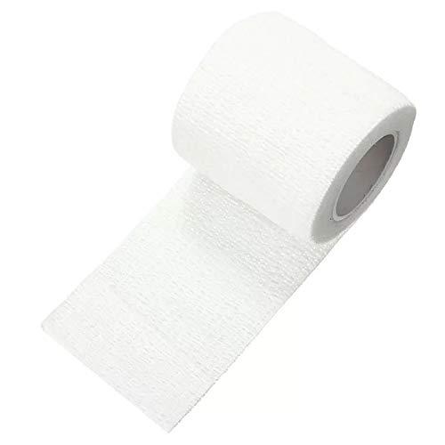 KUNSE 450x5cm wasserdichte Erste Hilfe Selbstklebende Elastische Bandage MuskelPflege Gaze Tape-Weiß