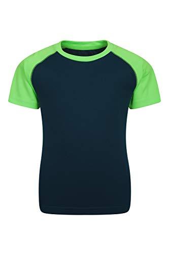 Mountain Warehouse Camiseta Endurance para niños – De Verano con UPF 50+, Ligera, Transpirable y de Cuidado fácil - Ideal para Viajes, Paseos y Actividades al Aire Libre Azul petróleo 9-10 Años