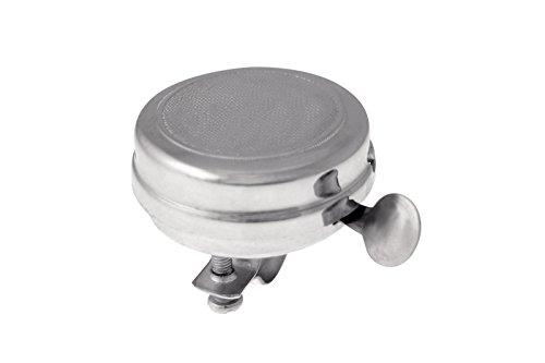 Campanello Ring Ring Retro in Acciaio Cromato Argento per Bicicletta Clasica Vintage 3834
