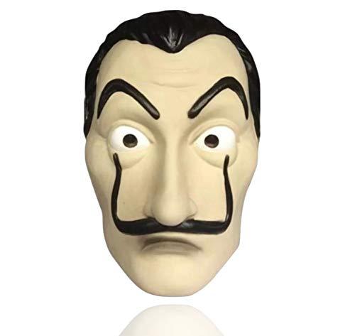Disfraz de máscara - Casa de papel Disguise casa del papel Bella Ciao House para hombres, mujeres y adultos con máscara conocida de House of Money - Mardi Gras, Carnival, Halloween (1x máscara)
