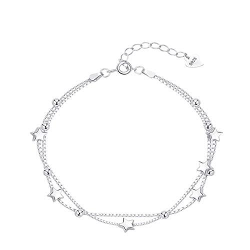 SENFEISM Moda moda 925 plata esterlina borla estrella pulseras para mujeres cadenas pulseras playa verano joyería | pulseras y brazaletes