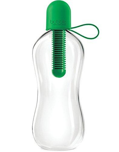 Boble Botella de agua con tapa de transporte, 524 ml, verde