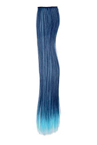 WIG ME UP - Extension 2 Clip-in mèche mélange lisse mélange de bleu foncé-bleu clair 45 cm/18 inch YZF-P2S18-T4027TTF2513