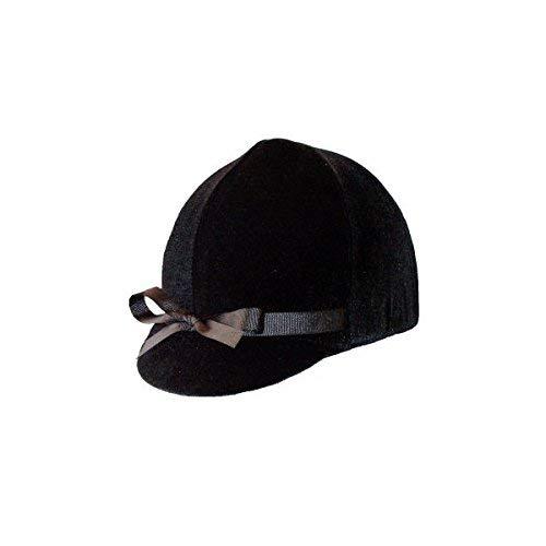 Equestrian Riding Helmet Cover - Black Velvet