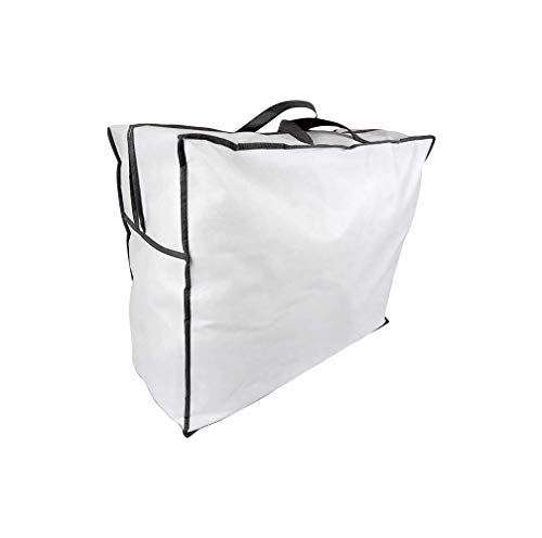 5er-Pack Aufbewahrungstasche für Bettdecken und Kissen, Trage-Tasche für Bettzeug oder Matratzenauflagen, handliche Reißverschluss-Box aus Vlies in 60cm x 50cm x 25cm