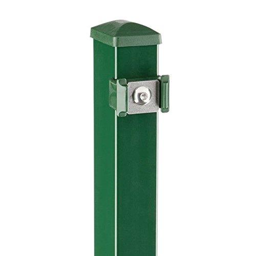 Unbekannt Zaunpfosten moosgrün für Doppelstabmatten 2430 (60x40x3000 mm)