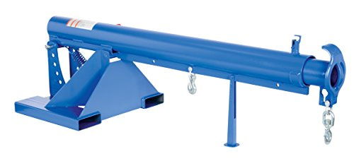 """Vestil LM-OBT-4-24 Orbit Telescoping Lift Boom, 4000 lb Capacity, 24"""" Fork Pocket Center, Overall LxWxH (in.) 32 x 86.625 x 27.6875, Overall Extended Length (in.) 146-5/8, Blue"""