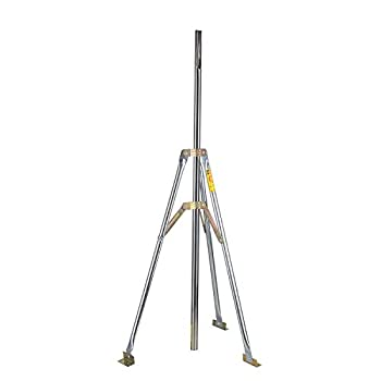 """Antenna Tripod TV Antenna Mast Pole,Outdoor Antenna Mount, Heavy Duty Satellite Antenna Bracket That Can Work on Any Roof,with 39.4"""" Mast"""