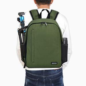 CADeN Kamerarucksack Camera Backpack Wasserabweisend Kameratasche Fototasche Kompatibel mit Sony Canon Nikon (Grün)