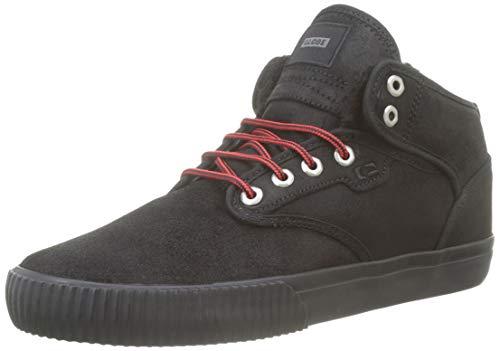 GLOBE Motley Mid, Zapatillas de Skateboard Hombre, Negro (Black/Red/Fur 20439), 40.5 EU