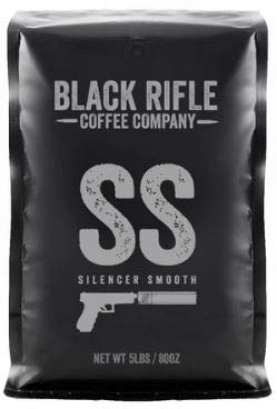Black Rifle Coffee Company 5 Pound Bag of Black Rifle Whole Bean (Silencer Smooth)