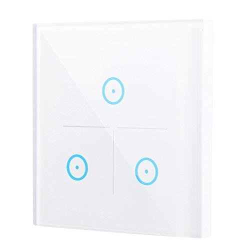 Interruptor de pared con función de sincronización del interruptor de pared WiFi inteligente remoto de 3 canales para la aplicación Smart Life para Google Home