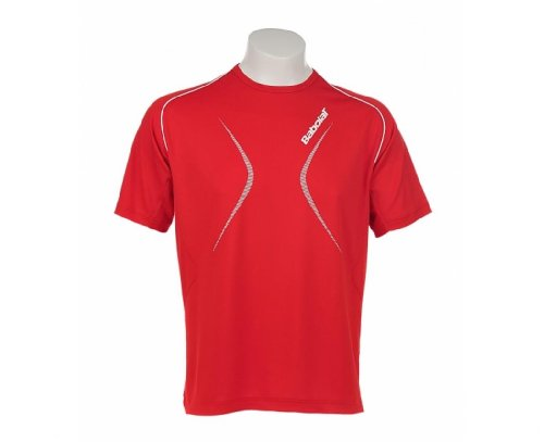 BABOLAT Club Line Camiseta Chicos, Rojo, 8-10 Años