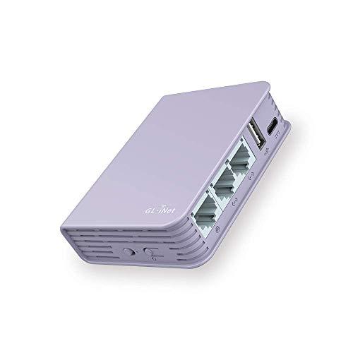 GL.iNet Brume (GL-MV1000) Edge Computing Gigabit VPN Gateway, DDR4 1GB, FLASH 16MB, EMMC 8GB, 280Mbps High VPN Performance, MicroSD Speicher unterstützt, OpenWrt/LEDE vorinstalliert, Kabel inbegriffen