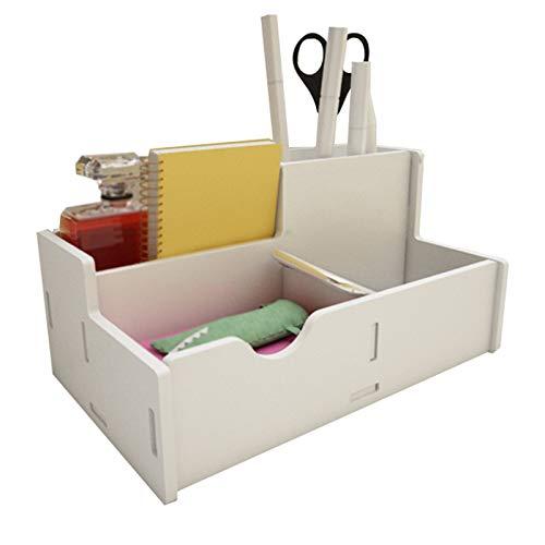Independiente decorativo Caja de almacenamiento de papelería de escritorio, accesorios de suministros de oficina multifuncionales, soporte de lápiz de gran capacidad para bolígrafos Organizador de alm