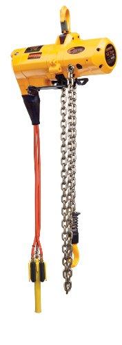 Harrington Cheetah TCS Pendant Model Air-Powered Hoist, Hook Mount, 1/2 Ton Capacity, 10' Lift, 60 fpm Max Lift Speed, 16-1/3