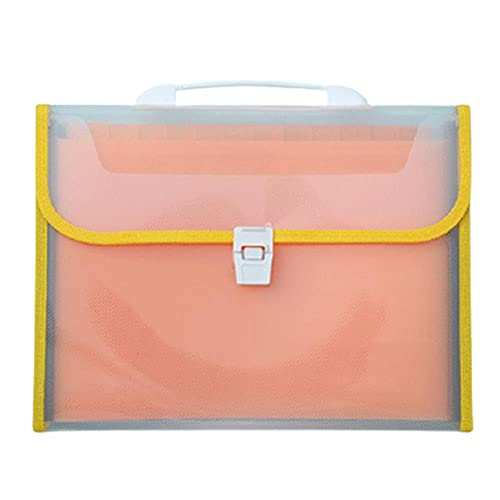 TOMOP Archivador de acordeón con asa expansible, 13 bolsillos, A4, carpeta de archivos, organizador de documentos para oficina, escuela, negocios