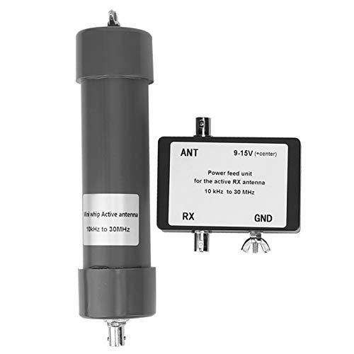 Alta confiabilidad de 9-15 V Gran contacto con cable portátil 50 Ohms 10KHz-30MHz Mini Whip Active Antena Electrónica para comunicación por radio