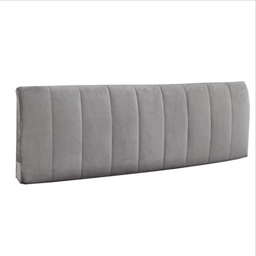 Uus Bett Soft Pack Kissen, Double Head Hood Stoff Große Rückenlehne Mit Bettkopf/Kein Bettkopf Abnehmbar und Waschbar Pillow (Farbe : No Bed, größe : 200 * 58 * 10cm)
