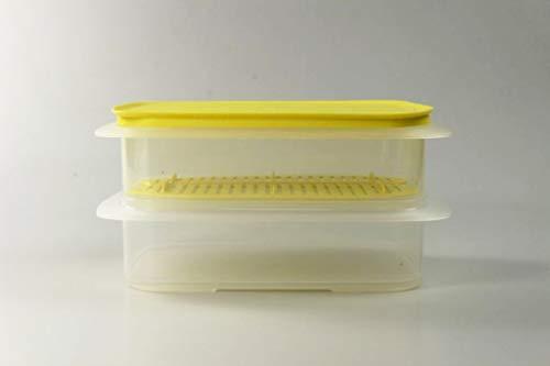 Tupperware Cool`N Fresh 1,5 L (2) + Tapa de Cierre Amarilla + Rejilla de frescura Amarilla 37137