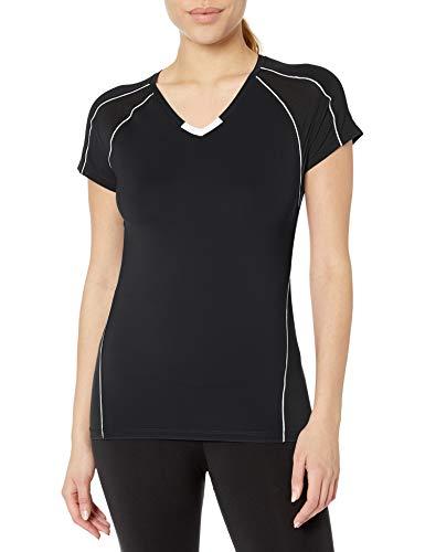 ASICS Damen Upcourt Kurzarm Jersey Kurzarm Gr. Small, schwarz/weiß