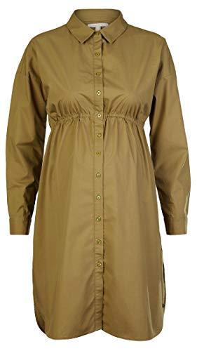 ESPRIT Maternity Damen Dress WVN ls Kleid, Khaki Green-350, 42