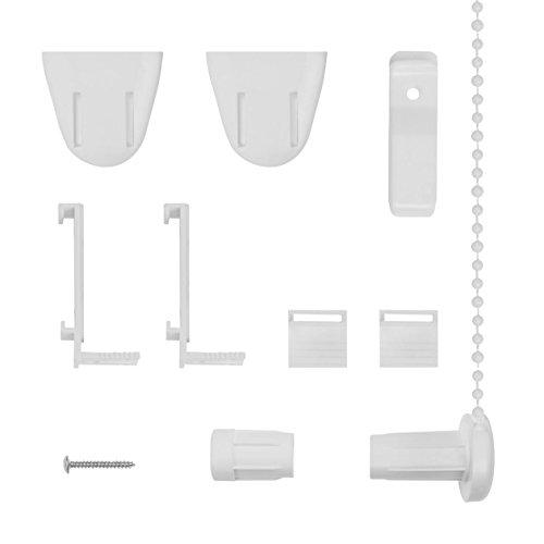 Lichtblick RKV.01.SB Klemmträger und Zubehör Montage-Set für Klemmfix Rollo RKV