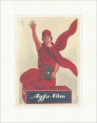Kunstdruck Agfa Film cámara fotografía marca publicidad póster mujer póster World 354