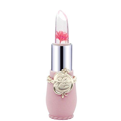 Honestyi-Rouge à lèvres Rouge à lèvres, Crystal Jelly Magic Change Couleur Lip Beauté Lumineuse Fleur (6pcs)