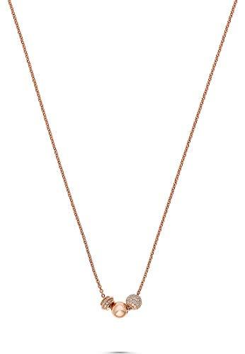 JETTE Silver Damen-Kette Cuddle 925er Silber 89 Zirkonia One Size Roségold 32010638