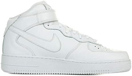 Amazon.com | Nike Air Force 1 Mid 07 White/White Mens Fashion ...