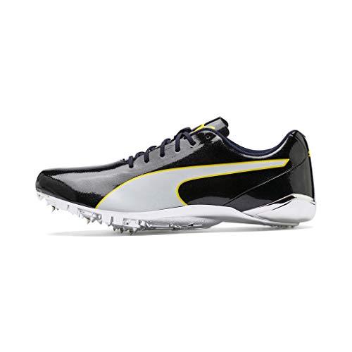 Puma Evospeed Electric 7, Zapatillas de Atletismo Unisex Adulto, Negro Black Blazing Yellow White 1, 43 EU