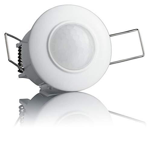 SEBSON Detector de Movimiento Interior, Montaje Empotrado en Techo, programable, Sensor de Infrarrojos, 6m / 360°, LED Adecuado, Luces 800W / 200W