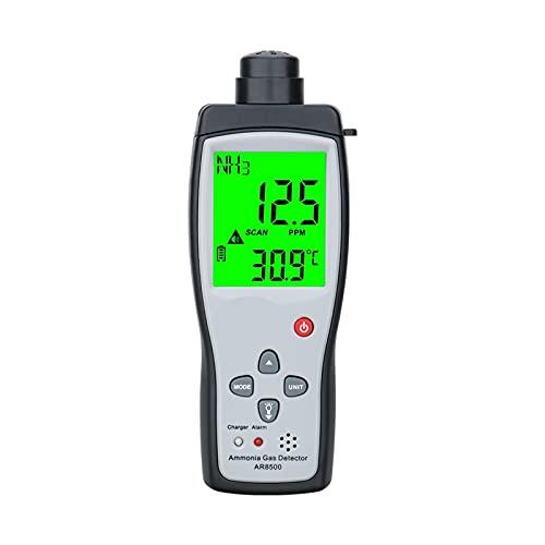 detector de gas natural Original AR8500 Gas de amoníaco de mano NH3 Detector Meter Tester Monitor Rango 0-10 0ppm Alarma de luz de sonido LI-batería detectores de gas para el hogar gas natural