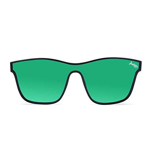 The Indian Face Gafas de Sol Espejadas Oxygen Mujer, Hombre Color Negro Lente Verde