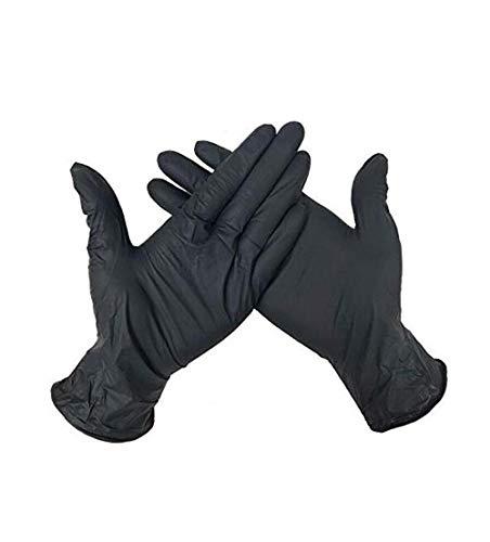 100 One-time Anti-lek, Comfortabele Zwarte PVC Handschoenen For Het Schoonmaken Van Het Huis, Tuin, Voedsel, Koken, Vissen, Kamperen En Outdoor Reizen L (Size : L)