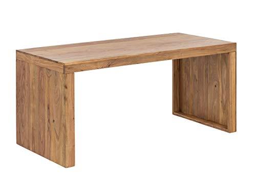 Woodkings® Schreibtisch Hankey 160x70cm, Akazie helles Holz, massiv rustikal Arbeitstisch, Bürotisch Landhaus Stil Design Büromöbel Computertisch, auch perfekt als Esstisch