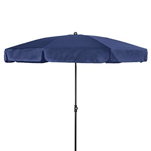 Doppler - Hochwertiger Sonnenschirm für den Balkon - Wetterfest - Knickbar - UV-Schutz 50+ - 200 cm - Blau