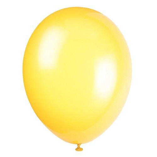 Unique Party-56844 Globos de Látex de 30 cm, color amarillo (lemon yellow), pack de 50 (56844)