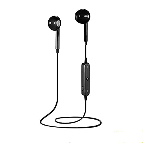 Bluetooth Headphones Neckband 20Hrs Playtime V4.1 Wireless Headset Sport Noise Cancelling Earbuds w/Mic for Gym Running Air Buds in-Ear Ear Buds Compatible with iPhone Samsung Android (Black)