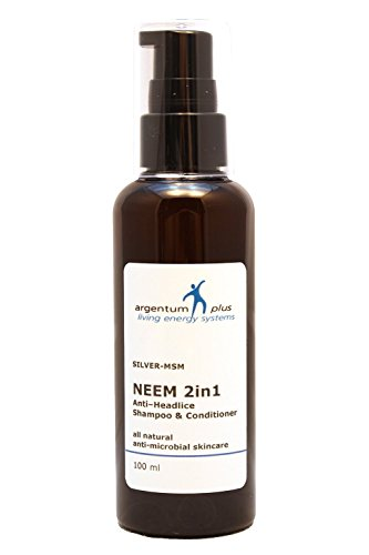 ARGENTUM Plus silver-msm Neem 2 in1 anti-headlice Shampoo und Conditioner 100 ml