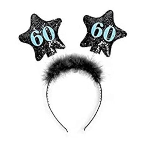 Haarreifen 60. Geburtstag Haarband Party