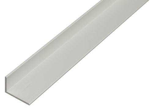 Winkelprofil aus Aluminium, 1000 x 30 x 20 mm, silberfarbig eloxiert