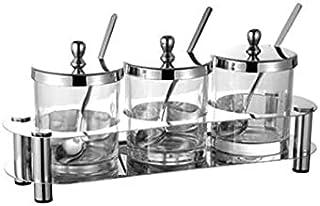 Tangrenlintlh Epices Pots Rangement Organisateur de bouteille d'assaisonnement d'épices, 3 pack, adapté à la décoration de...