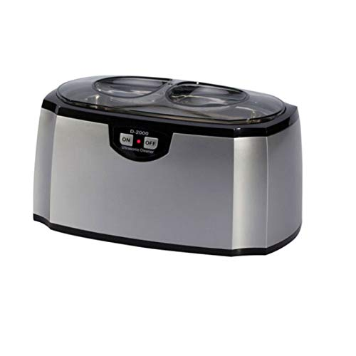 limpiador por ultrasonidos 420 ml Limpiador sónico 45 KHz Máquina de limpieza de joyas,temporización automática de 3 minutos,para joyas,anillos,anteojos,dentadura postiza,correa de reloj,monedas
