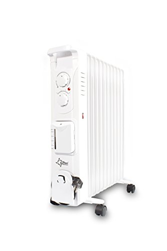 SUNTEC radiador de aceite Heat Safe 2500 humid | Calefactor electrico blanco...