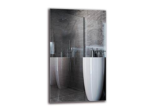 Spiegel Standard - Spiegel Rahmenloser - Spiegelmaßen 60x100 cm - Badspiegel - Wandspiegel - Badezimmer - Wohnzimmer - Küche - Flur - M1ST-01-60x100 - ARTTOR