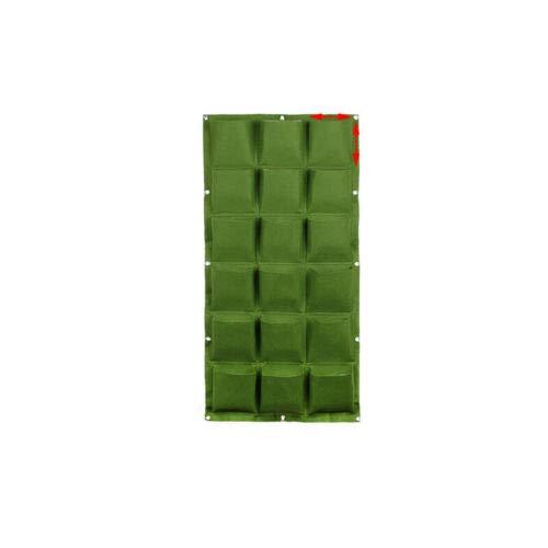 VOANZO Green Garden - Macetero vertical multibolsillo para colgar en la pared, fieltro, para interiores y exteriores, 18 bolsillos (50 x 100 cm)