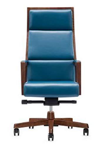 Sigma Bürostuhl Glamo, ergonomischer Chefsessel mit Walnussholz, lackiert