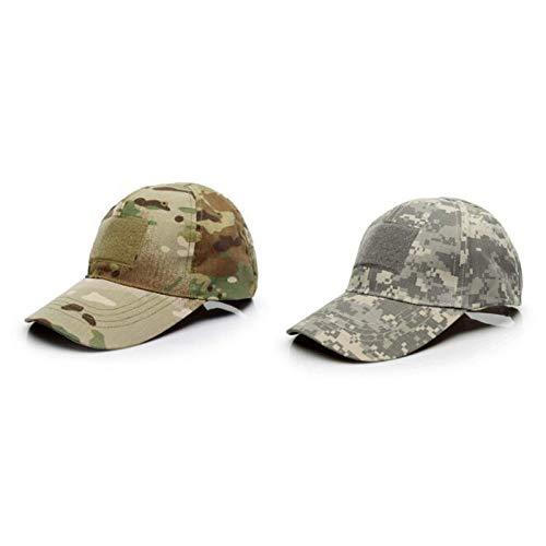 Baseballkappen Camo,2 Pcs Camouflage Army Cap,Camouflage Army Cap Herren Basecap,Breathable Run Baseball Hat,Aus Hochwertiger Baumwolle,Weich und Bequem,FüR Sport,Laufen,Angeln,MilitäR Verwendet